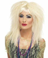 80's Crimp Wig Blonde (23160)